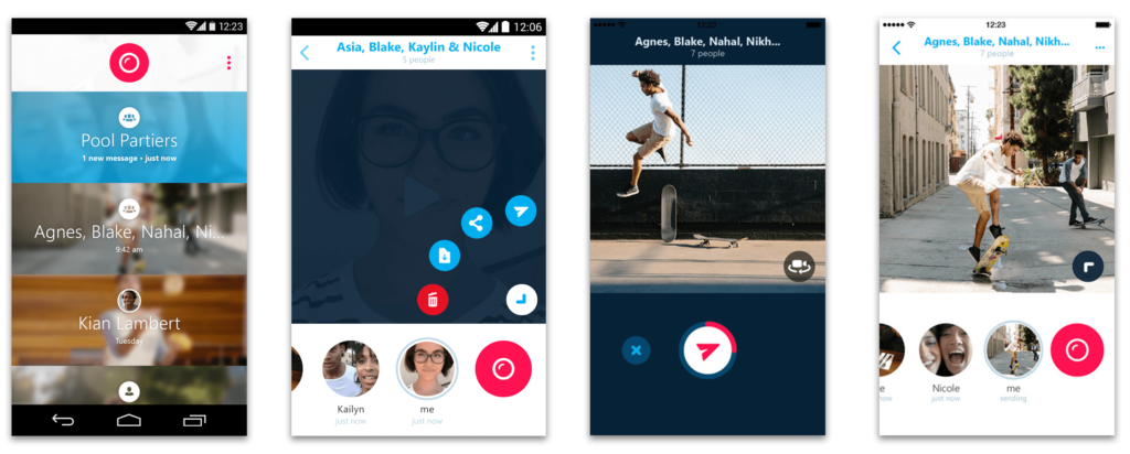 Skype Qik App Android Iphone