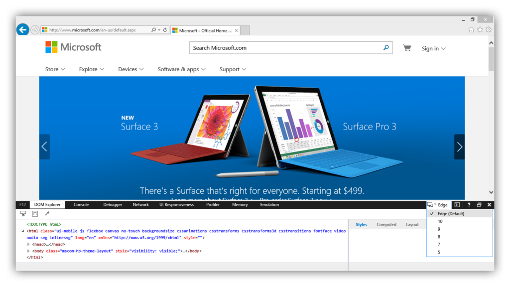 Microsoft Edge In Internet Explorer 11 (3)