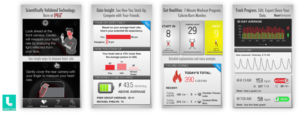 Cardiio - Heart Rate Monitor + 7 Minute Workout Exercise Routine for Cardio Health and Fitness