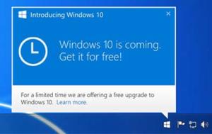 Windows 10 Update Notification Icon