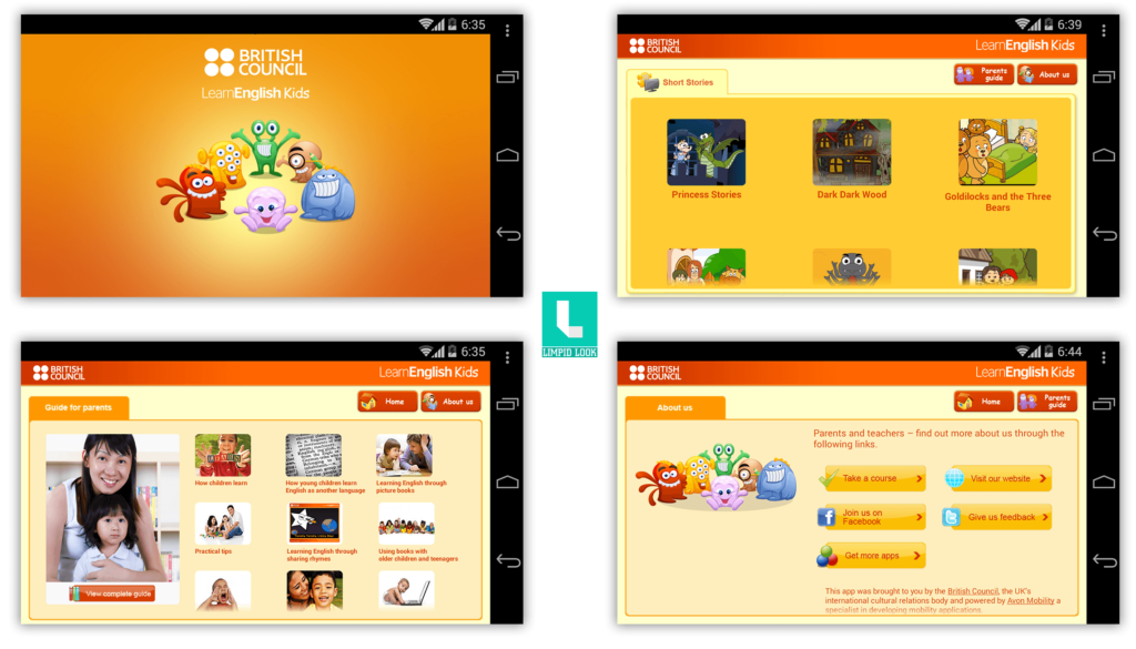 LearnEnglish Kids Videos App Screens